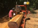 Milling some Kwila timber.