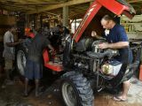 Fixing the tractor, again.